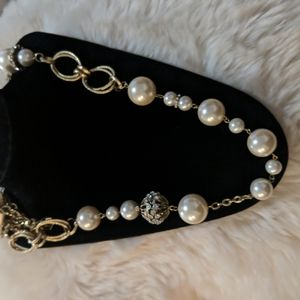 Bold elements peay and crystal  long necklace nwt